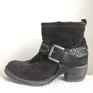 Josef Seibel 38 Ankle Boots Buckle Strap Western